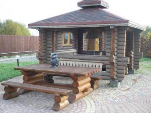 Фото срубы садовая мебель
