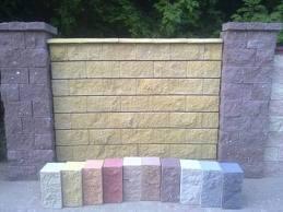 Фото Колотый стеновой блок Колотый стеновой блок (серый) 190х190х390
