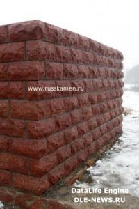 Фото Колотый стеновой блок Колотый стеновой блок (красный) 190х190х390