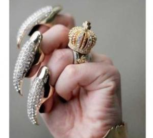 Фото Украшения, Кольца Кольцо Embellished Fake Nail