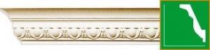 Фото Лепнина из полиуретана Gaudi , Harmony карниз с орнаментом Gaudi Decor С1001