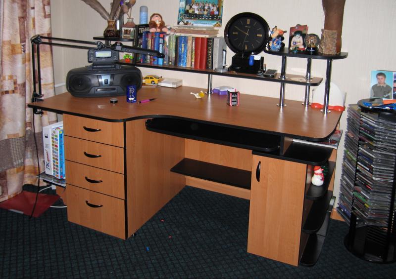письменные столы для школьника с полками фото