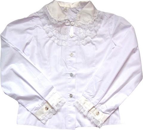 Белые блузки с жабо для девочек турция mahsen