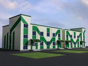 Фото  Варианты цветового и композиционного решения фасада.