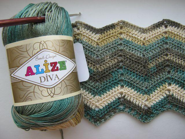 Вязание спицами из пряжи alize