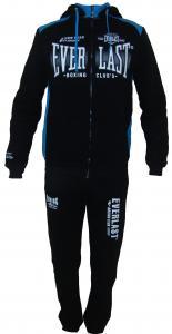 Фото Вся спортивная мужская одежда, Мужские спортивные костюмы Мужской спортивный костюм 11013 на байке (чёрный с голубым)