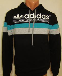 Фото Вся спортивная мужская одежда Спортивная мужская кофта с капюшоном 11031 (только Л и ХЛ)