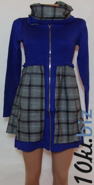 Женское трикотажное платье 23035 (двусторонний ,съемный воротник-хомут)