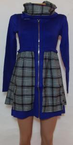 Фото Женский трикотаж (платья, кофты, туники) Женское трикотажное платье 23035 (двусторонний ,съемный воротник-хомут)