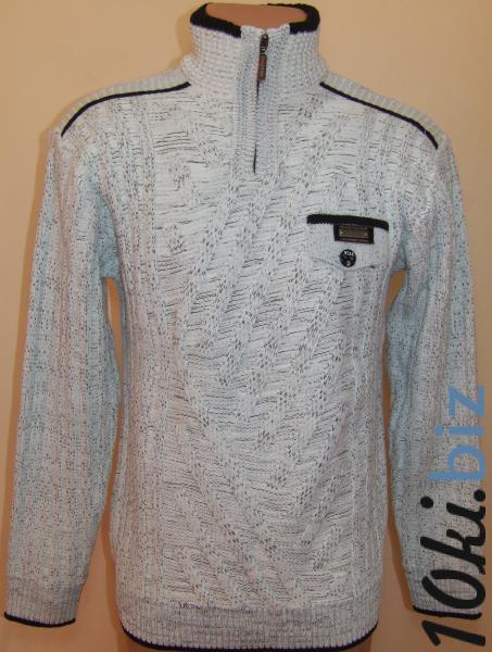 Мужской зимний свитер 12010 (белый меланж)