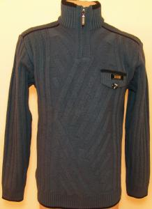 Фото Мужской трикотаж Мужской зимний свитер 12013 (тёмно-серый)