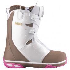 Фото Ботинки для сноуборда,  SALOMON 2013-14  Ботинки для сноуборда SALOMON 2013-14 MOXIE WHITE/SHREW/Glacier