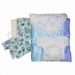 Фото Для малышей, Комплекты на выписку зима Комплект  (меховой) 8пр.голубой
