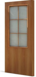 Фото Двери строительные Эконом  усиленые Межкомнатная дверь усиленная финиш пленка стекло «Армированное»