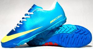 Фото СОРОКОНОЖКИ Сороконожки Nk Mercurial Victory сине-голубые