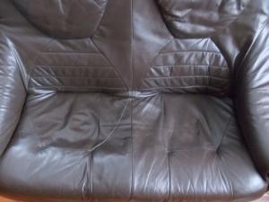 Фото Кожаная мягкая мебель Комплект мебели кожа на дубовом каркасе  (3+2)