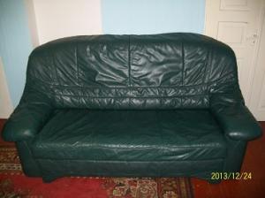 Фото Кожаная мягкая мебель Комплект кожаной мягкой мебели расскладной (3+2+3) б/у Германия.