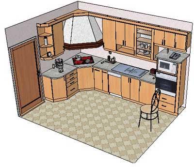 Дизайн кухни в 12 этажке 93