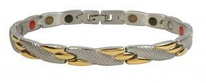 Фото Магнитные браслеты, Стальные, С биокерамическими вставками Магнитный стальной браслет Русалка с биокерамическими вставками