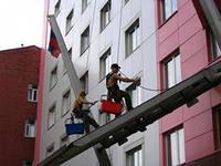 Фото МОЙКА ОКОН, ВИТРИН И ФАСАДОВ ПРОМАЛЬПИНИСТАМИ