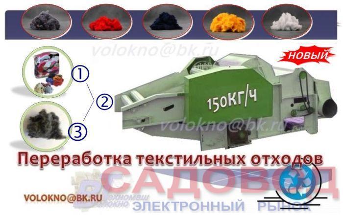 оборудование   тЕкстильные материалы для перерабОтки в вату