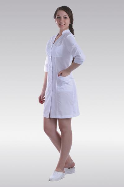 фото полной девушки в халате белом