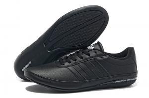 Фото ОБУВЬ, Мужская Обувь, Кроссовки Adidas Porsche Casual черный/кожа