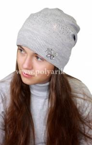 Фото Зима, От 10 до 16 лет Шапка подростковая (ФЛИС- подклад) - Артикул DH-035 - Производитель