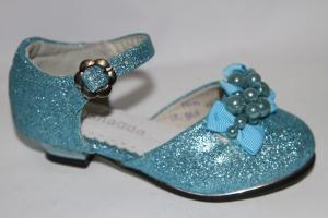 Фото Туфли, Праздничные туфли для девочек, до 32 Туфли 955-6А голубой