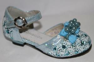 Фото Туфли, Праздничные туфли для девочек, до 32 Туфли 955-6 голубой