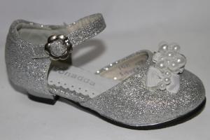 Фото Туфли, Праздничные туфли для девочек, до 32 Туфли 955-6 серебристый