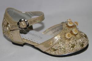 Фото Туфли, Праздничные туфли для девочек, до 32 Туфли 955-8 золотой