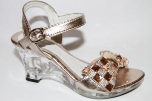 Фото Туфли, Праздничные туфли для девочек, до 38 Босоножки W111 gold