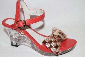 Фото Туфли, Праздничные туфли для девочек, до 38 Босоножки W-111 red