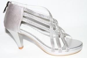 Фото Туфли, Праздничные туфли для девочек, до 38 Босоножки W2012 silver