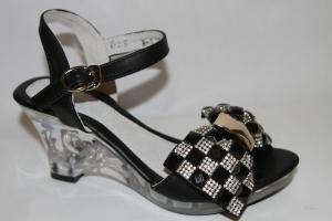 Фото Туфли, Праздничные туфли для девочек, до 38 Босоножки W-111 bl