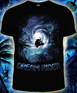 Фото Футболки мужские короткий рукав DREAM RIDER (Светится в темноте и ультрафиолете)