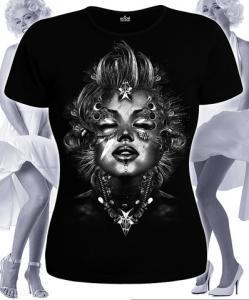 Фото Футболки женские Marilyn Monroe (Светится в темноте и ультрафиолете)