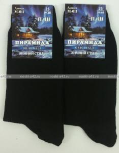 Фото Мужские носки оптом Пирамида носки мужские М-011 тонкая шерсть чёрные