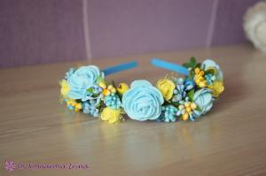 Фото Ободки с цветами Патриотичный ободок