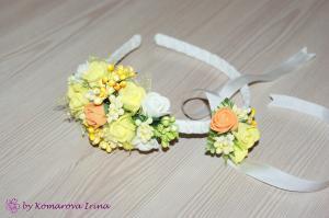 Фото Прочие аксессуары с цветами Браслет на руку с розочками