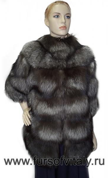 Фото Шубы, Шубы из лисы Полушубок из чернобурой лисы, модель
