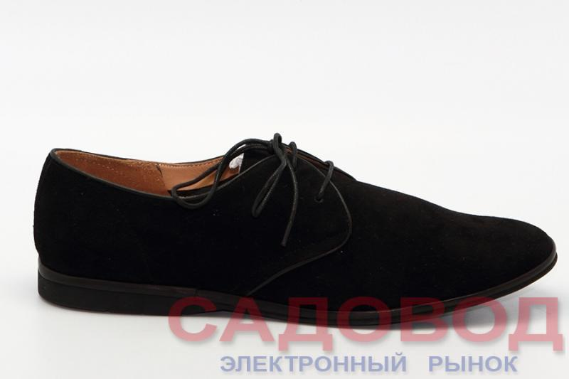 Мужские туфли 416127/01#3 черный замша