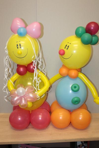 Человечки из воздушных шаров своими руками