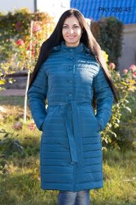 Фото Украина Зимнее женское пальто из плащевки