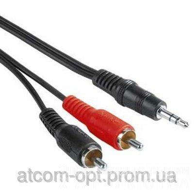Кабель Audio mini-jack(M) - > 2 RCA (M) пакет, длина 7,5 м.