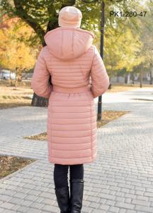 Фото Россия Зимнее женское пальто из плащевки