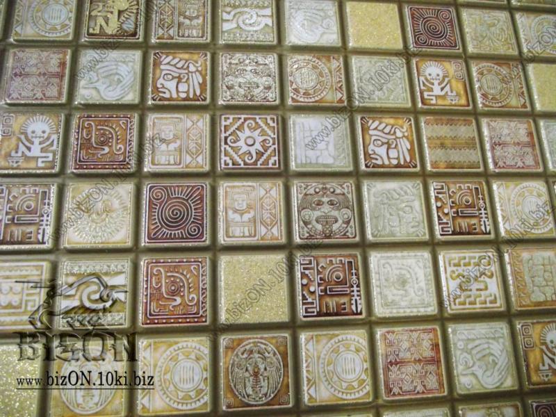 Фото Листовые панели ПВХ МОЗАИКА  «МЕДАЛЬОН КОРИЧНЕВЫЙ»   Листовые панели ПВХ для внутренней декоративной отделки
