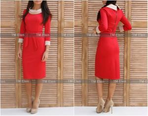 Фото Платья, Офисные платья Классическое платье для офиса 6 цветов