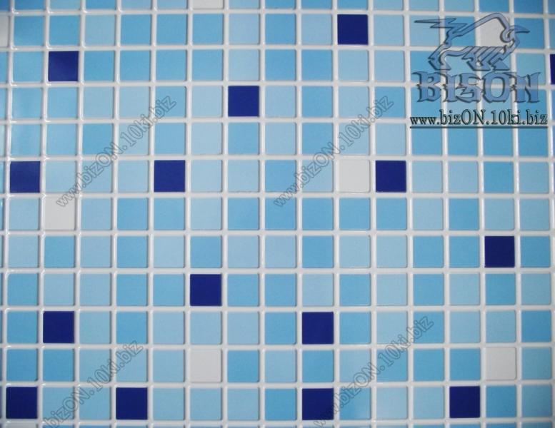 Фото Листовые панели ПВХ Мозаика «МИКС  СИНИЙ»   Листовые панели ПВХ
